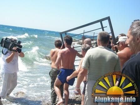 Мэрия Алупки забирает у Крымской епархии пляж