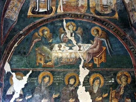 В румынском монастыре вожди попали на Страшный Суд