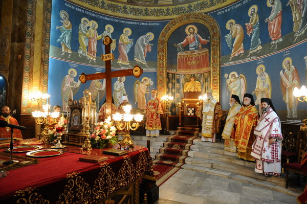 Патриарх Кирилл служил вместе с патриархом Африки