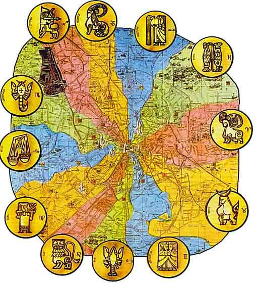 Текучесть времени, Зодиак и колена Израилевы
