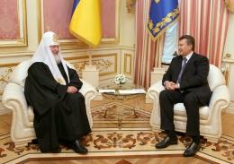 Віктор Янукович провів зустріч із Патріархом Кирилом