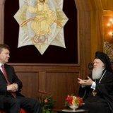 Патріарх Варфоломій прийняв Президента Януковича, який покладає великі надії на позитивні наслідки для української церкви рішень Всеправославного собору