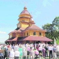 Два місяці, два тижні і два дні зводили дерев'яну церкву УГКЦ на Яворівщині