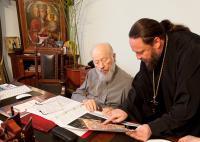 Намісник Десятинного монастиря представив главі УПЦ проект збереження залишків Десятинної церкви
