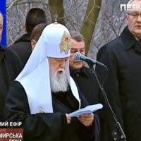 Янукович, Кравчук, Кучма и Ющенко приняли участие в благодарственном молебне, который провели иерархи Церквей