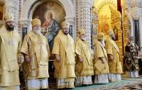 Віктор Янукович разом з ієрархами УПЦ привітали Патріарха Кирила з 5-річчям на посаді глави РПЦ