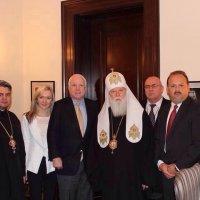 Патріарх Філарет зустрівся з екс-президентом Грузії та відвідав Держдепартамент США