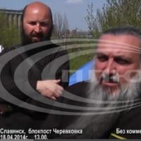 Священники УПЦ поднимают боевой дух вооруженных повстанцев Славянска