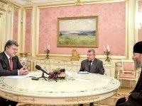 Петро Порошенко – митрополиту Онуфрію: «Держава і я, як Президент, є надійною опорою у Вашій Божій справі»