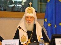 Патриарх Филарет, находясь в ЕС, призвал предотвратить Третью мировую войну
