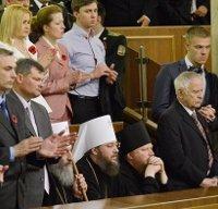 Митрополит Онуфрий объяснил свое поведение в парламенте «протестом против войны как явления»