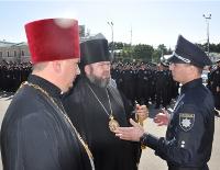 У Харкові єпископ УПЦ КП взяв участь у представленні нової поліції