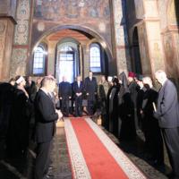 Президент разом з ієрархами Церков молився за Україну в Софії Київській