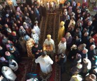 На Хмельнитчине парафия с настоятелем, состоявшие в УПЦ (МП), торжественно встретили епископа УПЦ КП