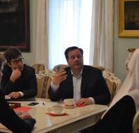 Глава УПЦ КП обговорив міжцерковні й державно-церковні стосунки з канадськими парламентарями і послом Польщі