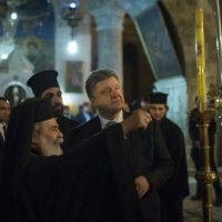 Президент України дякує Єрусалимському Патріарху за підтримку об'єднання українців в єдину автокефальну Церкву