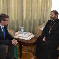 Глава УГКЦ обговорив з послом Литви євроінтеграцію України