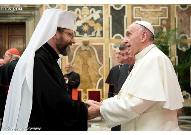 Глава УГКЦ говорив з Папою Франциском про участь греко-католиків у роботі змішаної комісії з православно-католицького діалогу