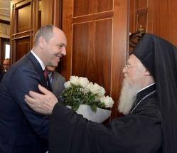 Голова парламенту України обговорив з Патріархом Варфоломієм перспективи утворення автокефальної УПЦ