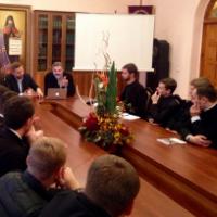 Відомий македонський філософ і теолог провів відкриту лекцію в академії УПЦ КП