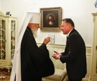 Новий консул Білорусі благословився у одеського митрополита УПЦ