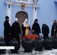 Патріарх Філарет передав калориферні печі для воїнів на передову АТО