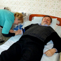 Священики УПЦ КП здали кров для поранених воїнів АТО