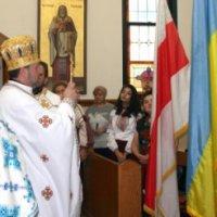 Білоруси у США освятили державний прапор України