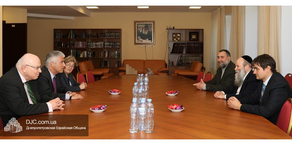 Главный раввин Днепра обсудил с послом ФРГ широкий круг вопросов, представляющих взаимный интерес