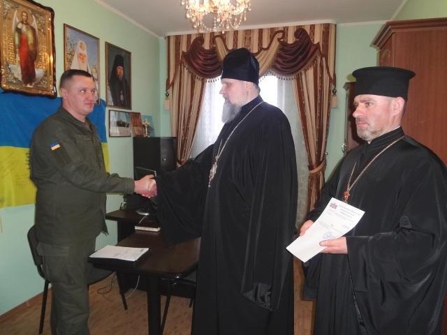 У Вінниці відбулось призначення першого штатного капелана у військову частину