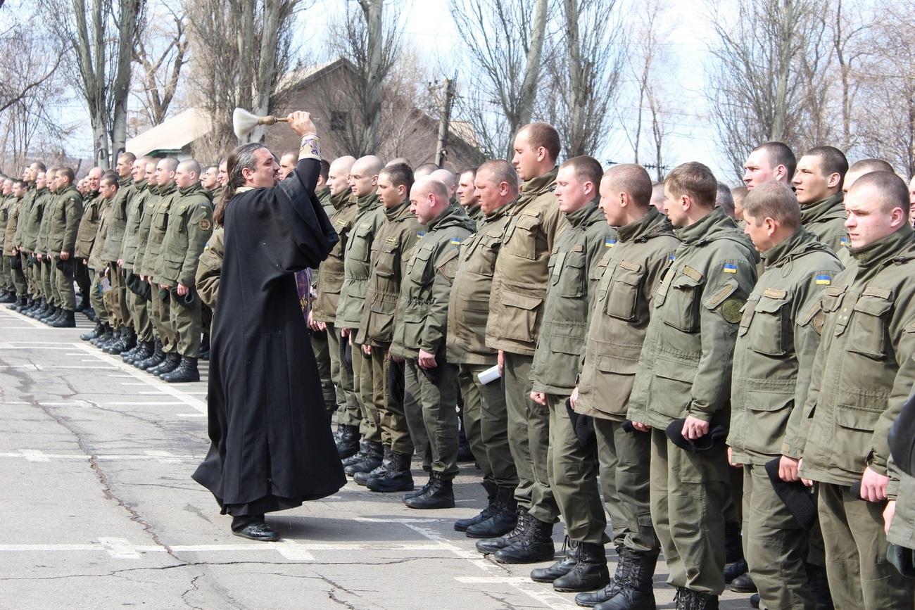 Священики УПЦ відзначили День Національної гвардії України, а також взяли участь у складанні присяги військовослужбовцями