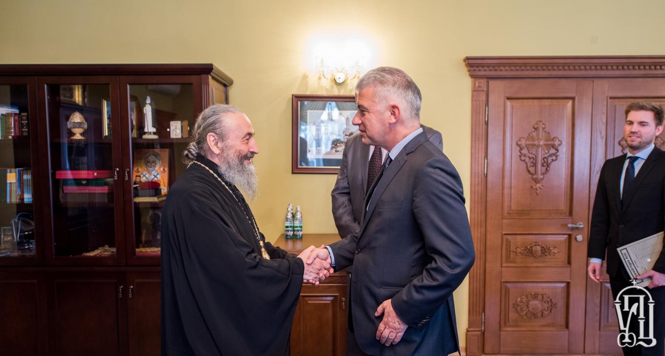 Митрополит Онуфрій розповів послу Німеччини про миротворчу місію УПЦ