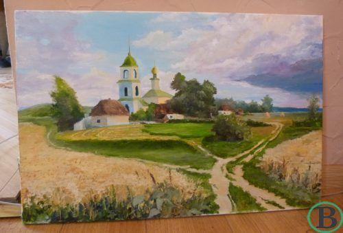 Черкаський художник через хворобу малює церкви зубами