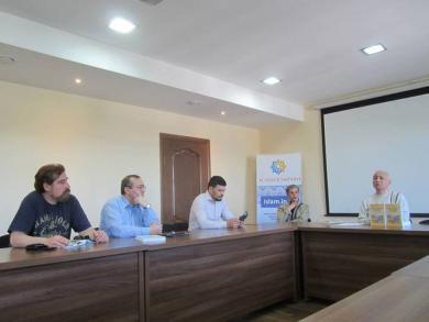 Азербайджанский историк и теолог презентовал в Киеве книгу по истории геополитической борьбы за территории России, Украины, Беларуси и Балтии