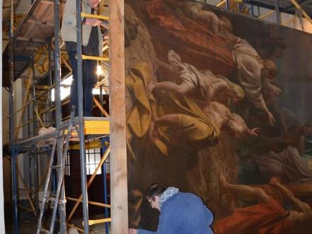 """В Андріївській церкві відреставрували картину 1847 року """"Проповідь Апостола Андрія"""""""