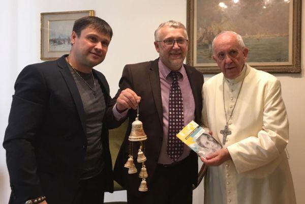 Пастор из Украины представил Папе Римскому идеи миссии для детей-сирот