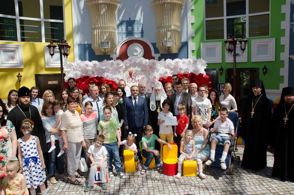 Патріарх Філарет освятив Київський центр реабілітації дітей з інвалідністю