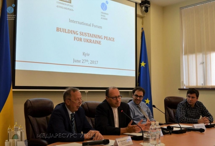 УГКЦ і Українська соціальна академія провели міжнародний форум «Шляхи розбудови миру в Україні»