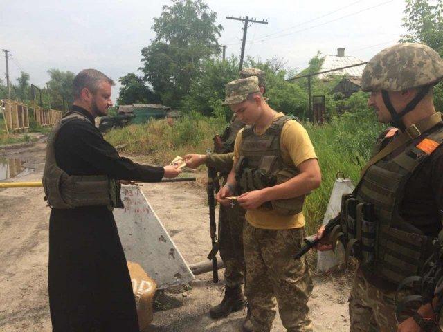 Мукачівська єпархія УПЦ вчергове передала допомогу військовим на передовій АТО