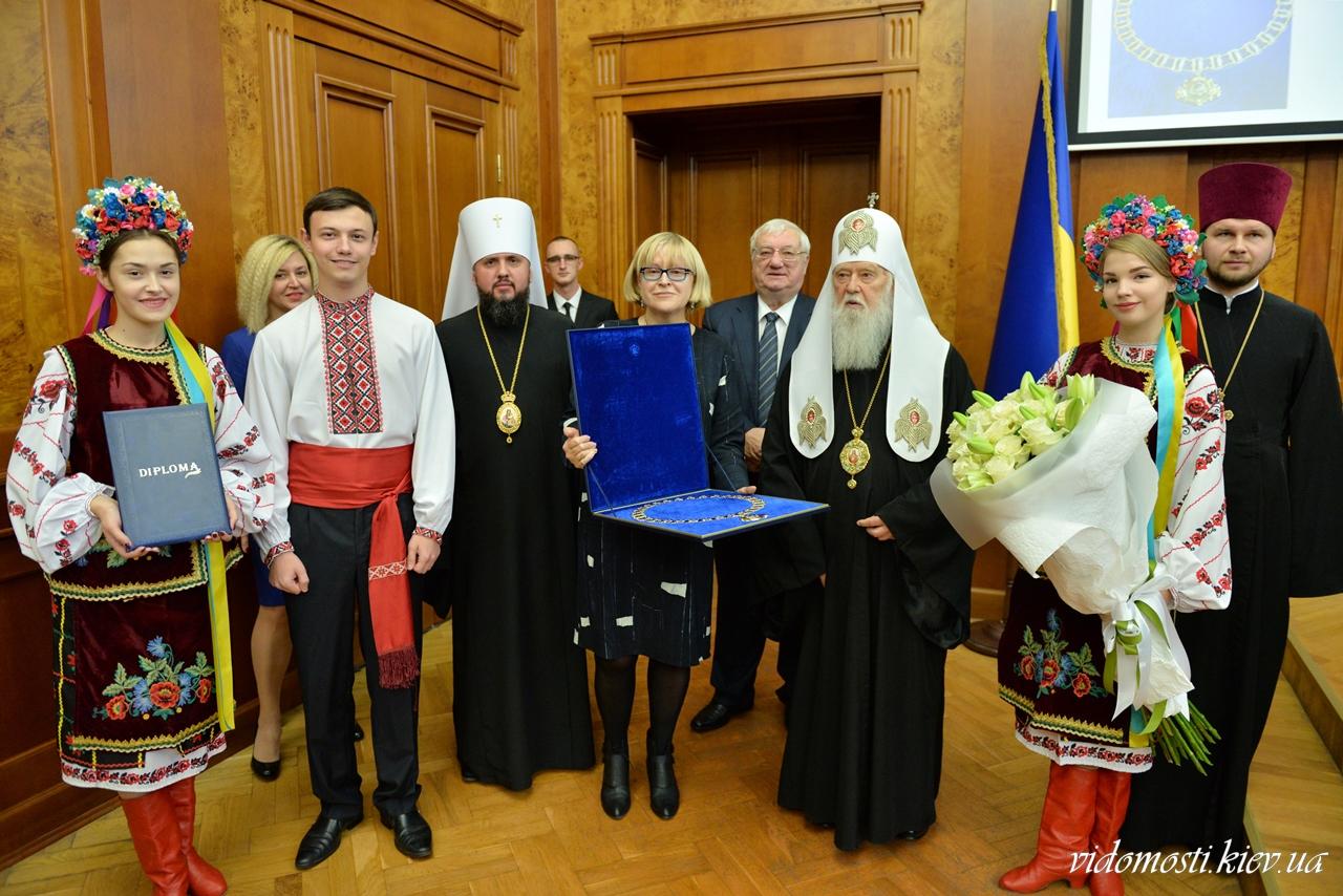 Патріарх Філарет став почесним доктором Національного медичного університету імені О. Богомольця
