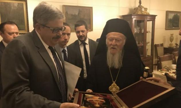 Константинопольский патриарх впервые посетил посольство РФ в Турции