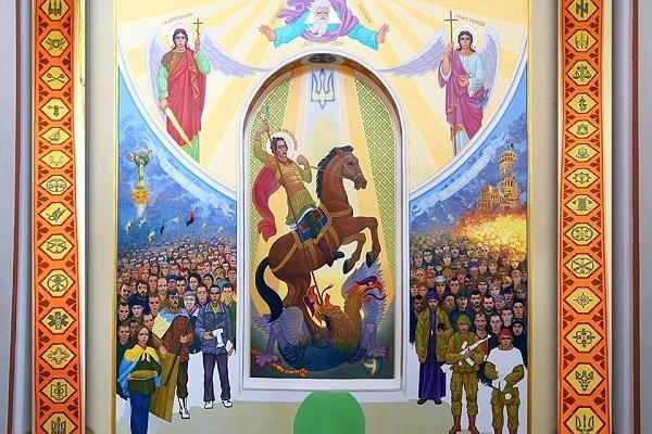 Новітня ікона у кременецькому соборі викликала суперечку між священиками