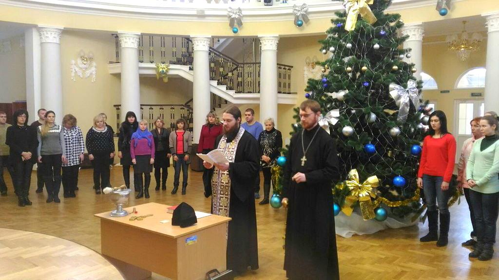 УПЦ освятила у Сєверодонецьку обласний академічний театр