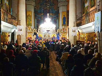 Литовський хор виступив у львівській церкві УАПЦ