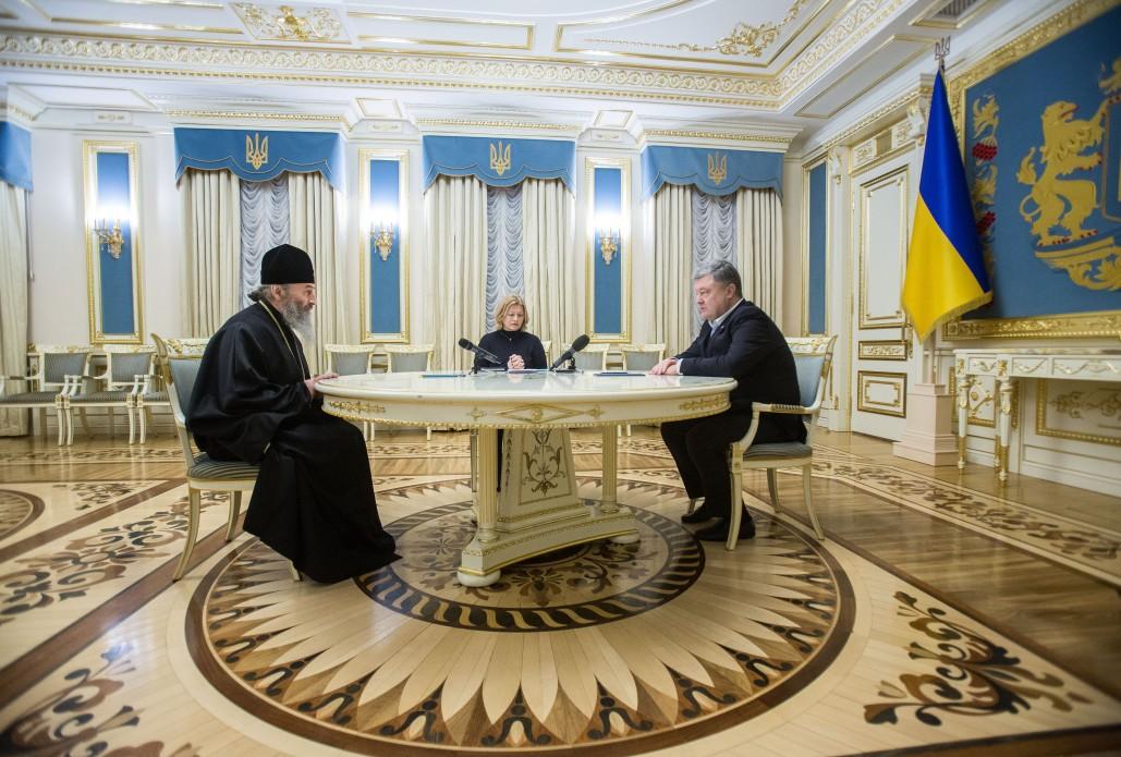 Президент зустрівся з главою УПЦ і подякував церквам за допомогу у звільненні полонених