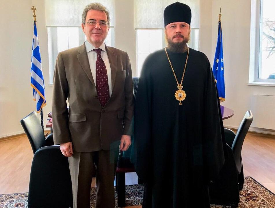 Єпископ УПЦ обговорив з послом Греції питання життя і діяльності релігійних спільнот двох країн