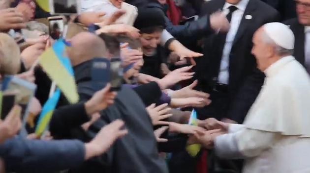 Папа Франциск і глава УГКЦ відвідали українську громаду Рима і виголосили промови