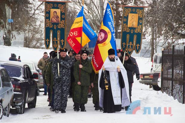 В храме УПЦ привели к присяге казаков, воюющих против Украины