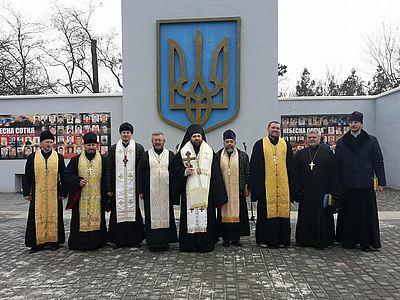 Священики УАПЦ і УПЦ КП звершили у Херсоні панахиду за загиблими Небесної сотні