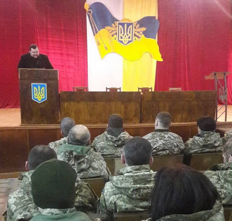 Єпископ УПЦ КП проводить духовно-просвітницькі зустрічі з військовими